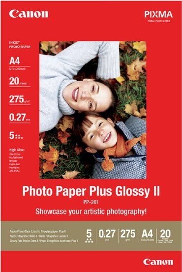 Inkjetpapier Canon PP-201 A4 260gr glans 20vel