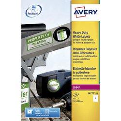 Etiket Avery L4775-20 210x297mm polyester wit 20stuks