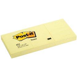 Memoblok 3M Post-it 653 38x51mm geel