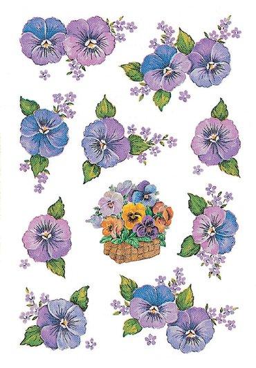 Etiket Herma bloem paars