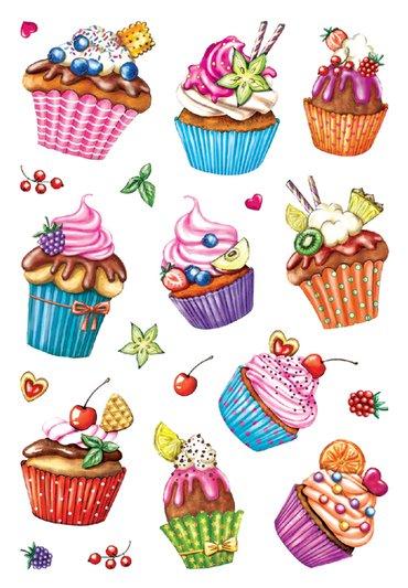 Etiket Herma cupcakjes glitter