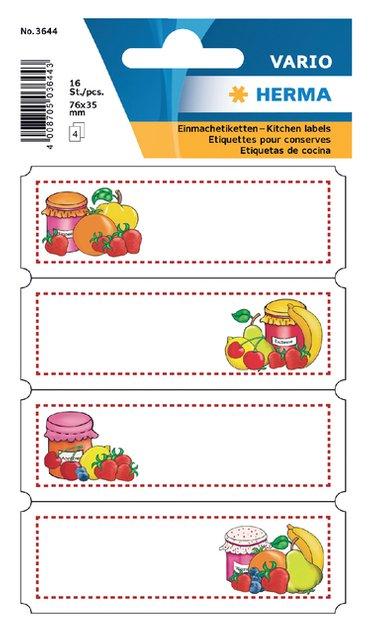 Etiket Herma keuken vrucht assortiment