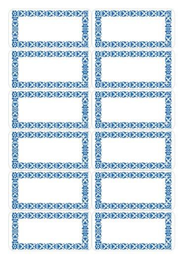 Etiket Herma keuken blauw