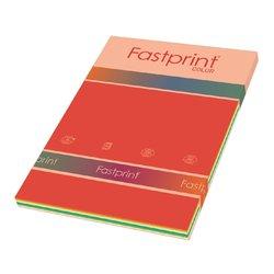 Kopieerpapier Fastprint A4 160gr 10kleuren x5vel