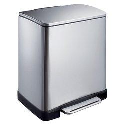 Pedaalemmer E-Cube 20liter RVS mat rechthoekig afvalbak