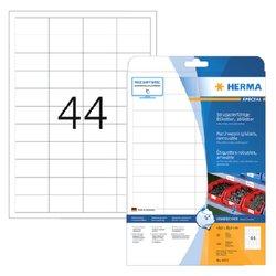 Etiket Herma 4572 48.3x25.4mm 880st folie wit