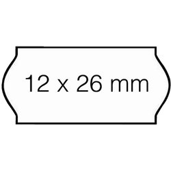 Prijsetiket 12x26mm Open-Data C6 permanent wit
