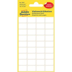 Etiket Avery Zweckform 3042 18x12mm wit 216stuks