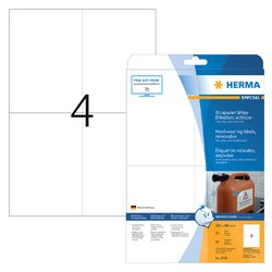 Etiket Herma 4576 105x148mm 80st folie wit