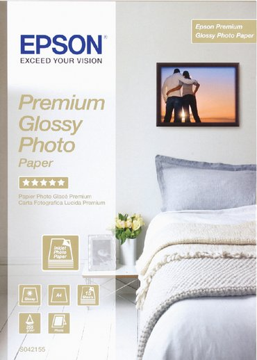 Inkjetpapier Epson S042155 A4 premium glans 225gr