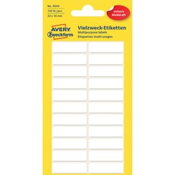 Etiket Avery Zweckform 3044 32x10mm wit 132stuks