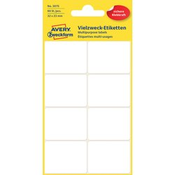 Etiket Avery Zweckform 3075 32x23Mm wit 60stuks
