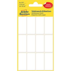 Etiket Avery Zweckform 3077 38x18mm wit 72stuks