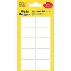 Etiket Avery Zweckform 3078 38x29mm wit 40stuks