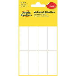 Etiket Avery Zweckform 3079 50x19mm wit 48stuks