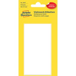Etiket Avery Zweckform 3047 98x51mm wit 6stuks
