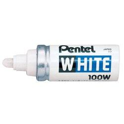 Viltstift Pentel 100W lakmarker rond wit 4mm