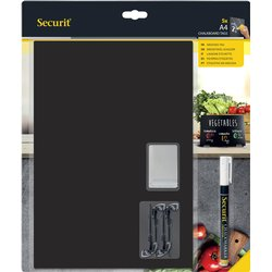 Krijtbord Securit A4 tags