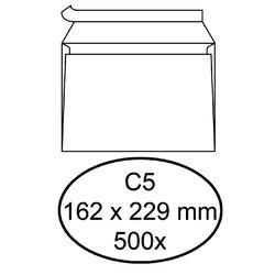 Envelop Hermes bank C5 162x229mm zelfklevend met strip wit