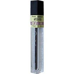 Potloodstift Pentel 0.2mm zwart per koker B