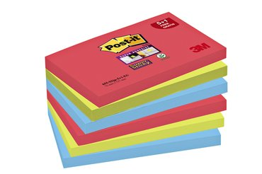 Memoblok 3M Post-it 655 Super Sticky 76x127mm Bangkok