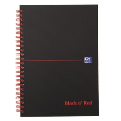 Notitieboek Oxford Black n' Red A5 70v ruit 5mm