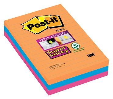 Memoblok 3M Post-it 4690 Super Sticky 101x152mm lijn Bangkok