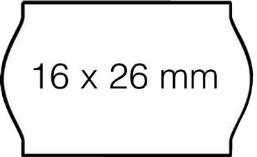 Prijsetiket 16x26mm Open-Data S14/Sato Judo permanent wit