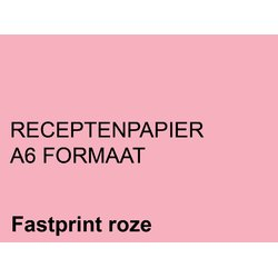 Receptpapier Fastprint A6 80gr roze 2000vel