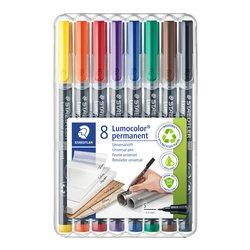 Viltstift Staedtler Lumocolor 313 permanent S set à 8 stuks assorti