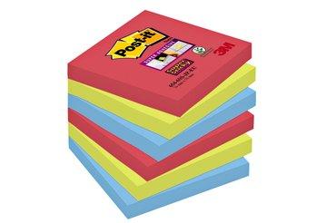 Memoblok 3M Post-it 654 Super Sticky 76x76mm Bora Bora