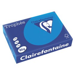 Kopieerpapier Trophee A4 80gr caribien blauw 500vel