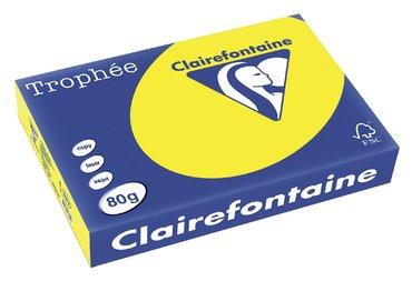 Kopieerpapier Trophee A4 80gr zonnegeel 500vel