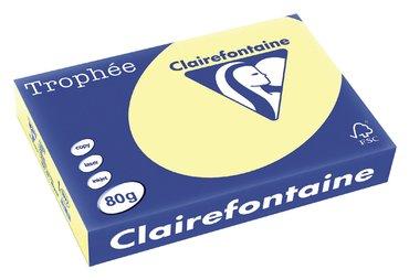 Kopieerpapier Trophee A4 80gr geel 500vel