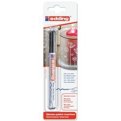 Viltstift edding 751 lakmarker rond zwart 1-2mm blister
