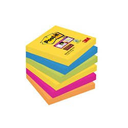 Memoblok 3M Post-it 654 Super Sticky 76x76mm Rio