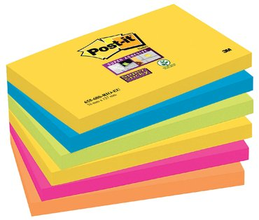 Memoblok 3M Post-it 655 Super Sticky 76x127mm Rio