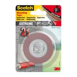 Plakband Scotch Extreme 19mmx1.5m dubbelzijdig