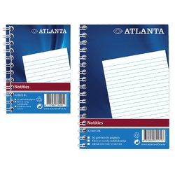 Notitieboek Atlanta A7 lijn 100blz met zijspiraal