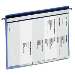Personeelsmap Durable 5 vakken + hangrail blauw