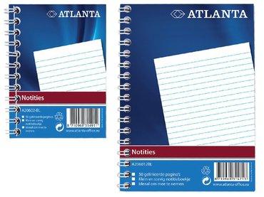 Notitieboek Atlanta A6 lijn 100blz met zijspiraal