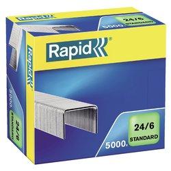 Nieten Rapid 24/6 gegalvaniseerd standaard 5000 stuks