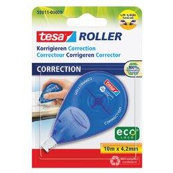 Correctieroller Tesa ecoLogo 4.2mmx10m zijwaarts op blister