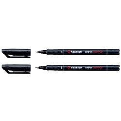 Viltstift STABILO OHpen permanent 841/46 rond 0.4mm zwart