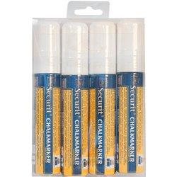 Krijtstift Securit SMA-720 blok wit 7-15mm blister à 4st
