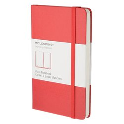 Notitieboek Moleskine pocket 90x140mm blanco rood