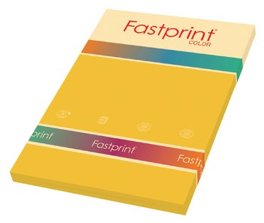 Kopieerpapier Fastprint A4 80gr goudgeel 100vel