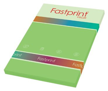 Kopieerpapier Fastprint A4 80gr helgroen 100vel