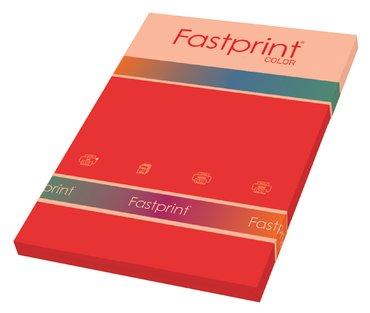 Kopieerpapier Fastprint A4 80gr felrood 100vel