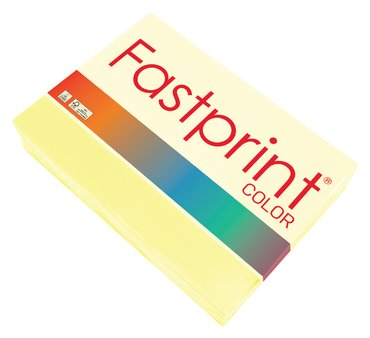 Kopieerpapier Fastprint A4 80gr kanariegeel 500vel